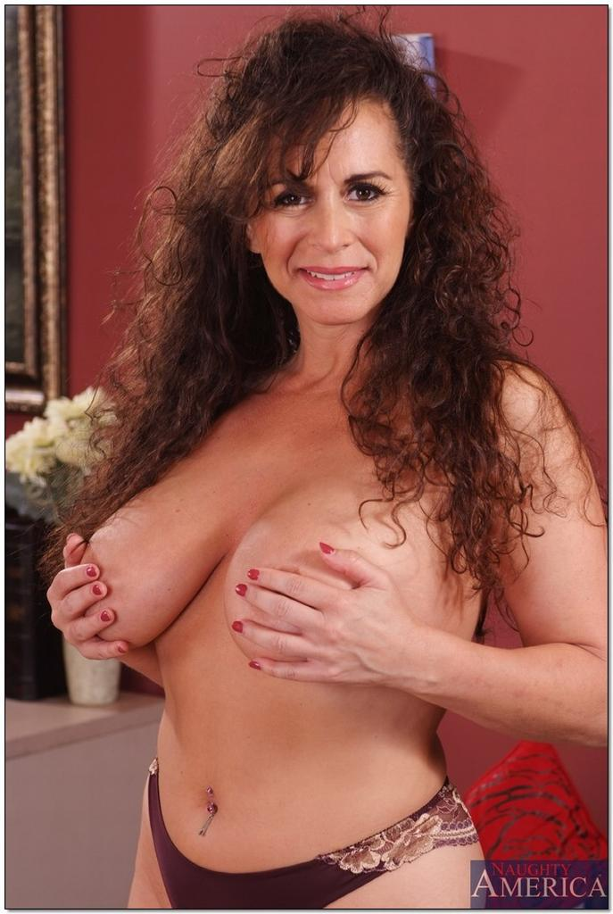 Busty Cougar Keisha at Seduced By a Cougar, Keisha, brunette, busty, big tits, Seduced By A Cougar, mature babe hardcore